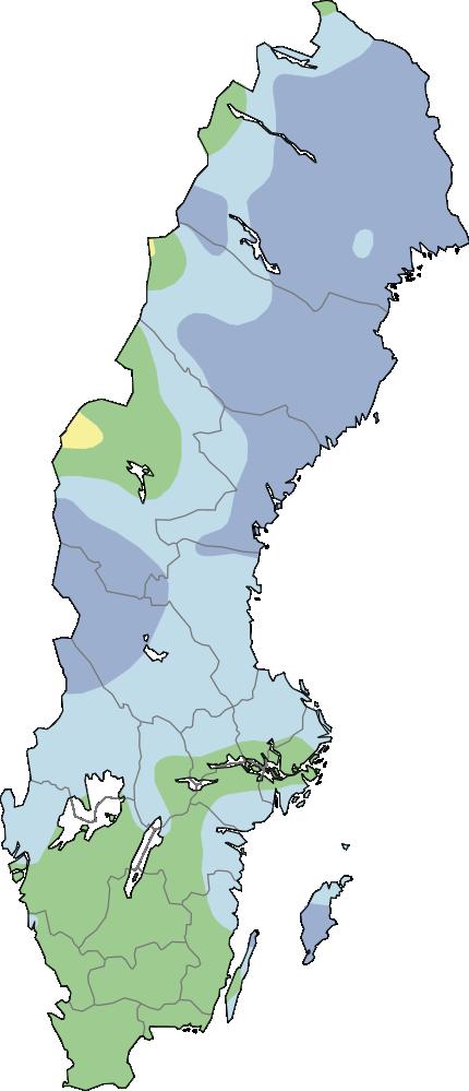 Karta grundvattennivåer små magasin