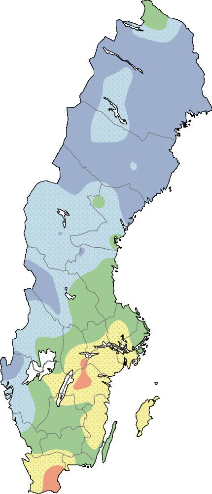 Karta grundvattennivåer stora magasin